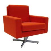 Aubrey Lounge chair with a chrome X base