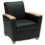 EvansII Lounge Chair Wood Caps
