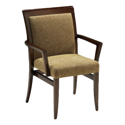 Dillon pullup with arms and upholstered back