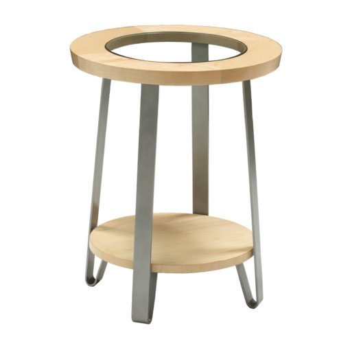 Java Round table with glass insert