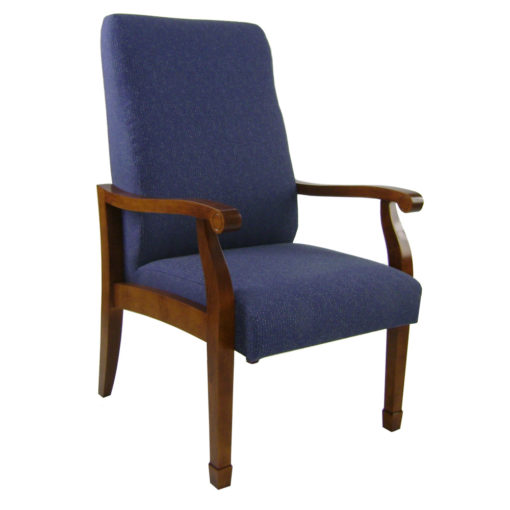 Winston high back patient chair in blue