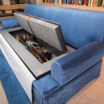 Couchbunker with gun safe open and full